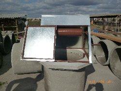 металический домик под колодец